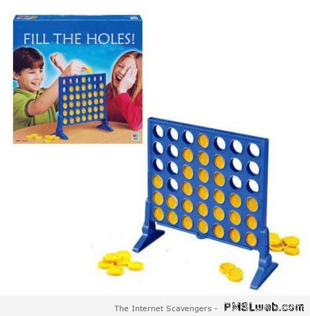 Fill the holes board game at PMSLweb.com