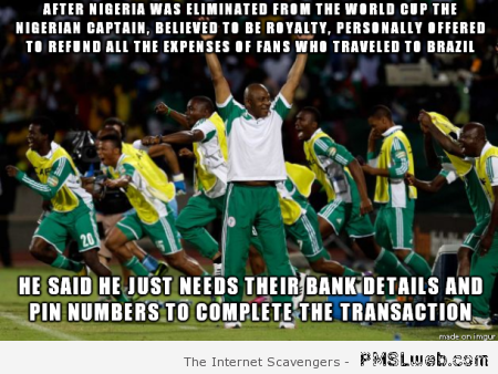 Nigerian football meme at PMSLweb.com