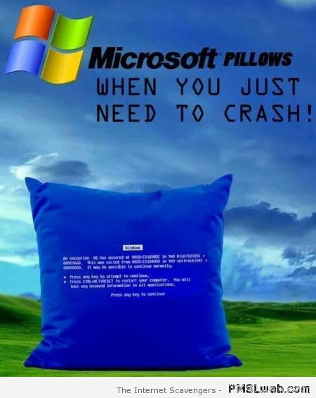 Microsoft pillows humor at PMSLweb.com
