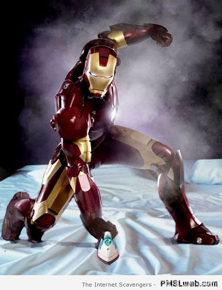 Iron man humor at PMSLweb.com