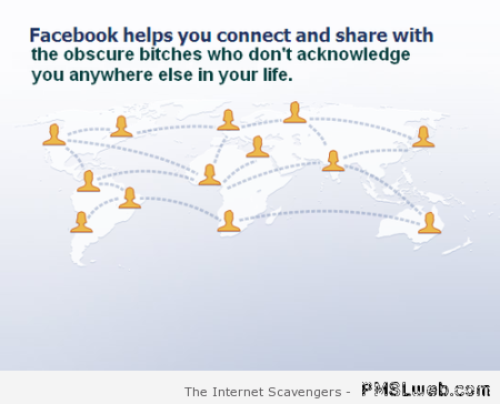 Funny Facebook helps you connect at PMSLweb.com