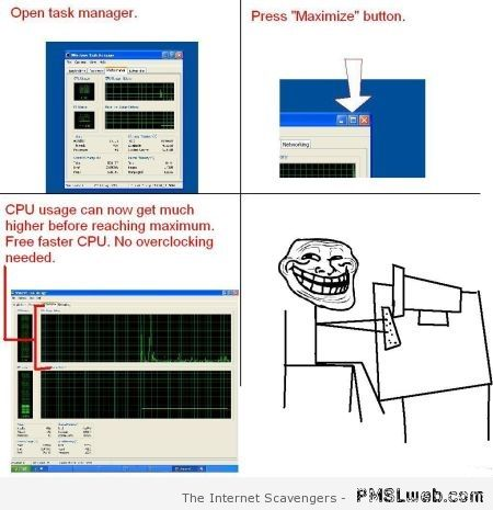 CPU usage hack at PMSLweb.com