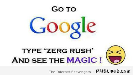 Google search Zerg rush at PMSLweb.com