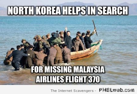 North Korea helps search flight 370 meme at PMSLweb.com