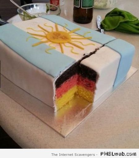 Germany Argentina cake humor at PMSLweb.com