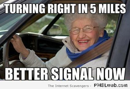 Old person driving meme at PMSLweb.com