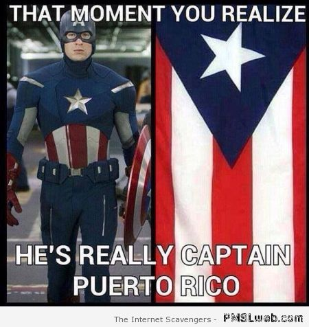 Captain America is from Puerto Rico at PMSLweb.com