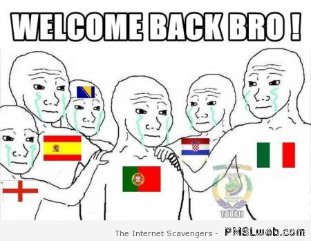 Portugal eliminated of the world cup meme at PMSLweb.com