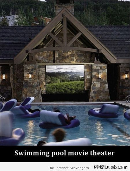 Swimming pool movie theatre at PMSLweb.com