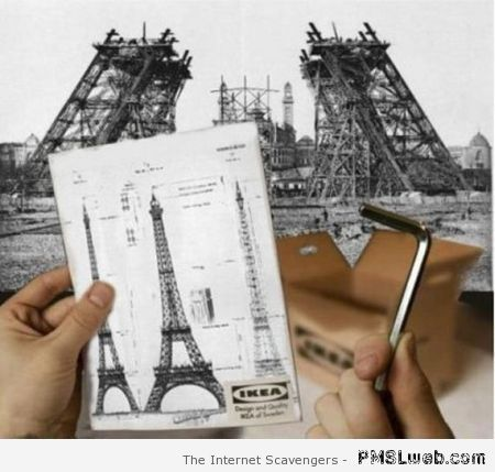Ikea Eiffel tower at PMSLweb.com