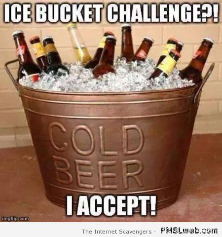 Ice bucket challenge meme – Friday fun at PMSLweb.com