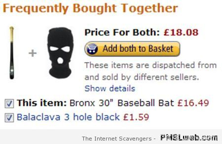 Amazon suggestion fail – Thursday LOL at PMSLweb.com