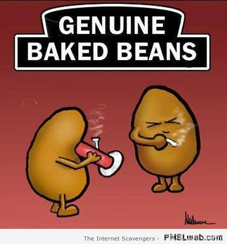 Genuine baked beans humor at PMSLweb.com