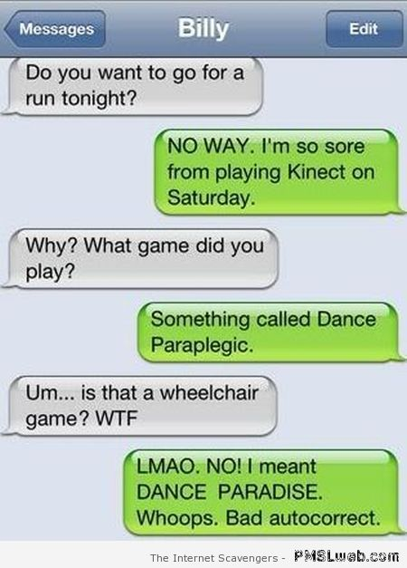 Dance paraplegic iPhone funny at PMSLweb.com