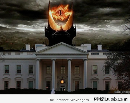 White house and eye of Sauron at PMSLweb.com