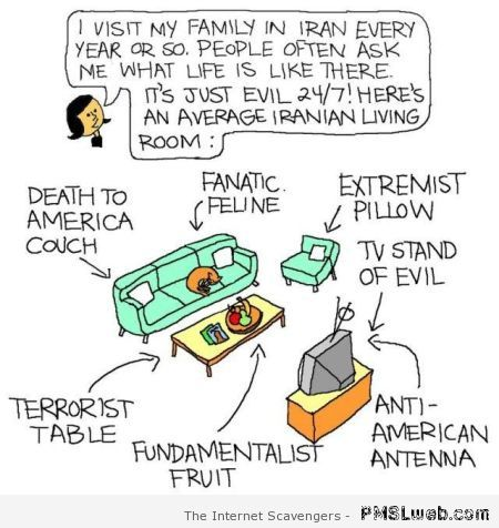 Funny Iranian household at PMSLweb.com