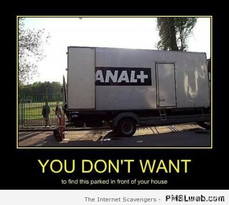 Canal + truck demotivational – Thursday LOL at PMSLweb.com