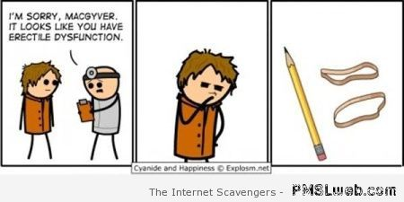 McGyver has an erectile dysfunction at PMSLweb.com