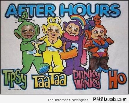 Funny after hours teletubbies at PMSLweb.com