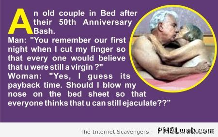 An old couple's anniversary joke at PMSLweb.com
