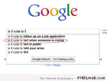 Is it rude to fart when someone's crying at PMSLweb.com
