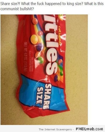 Skittles share size funny at PMSLweb.com