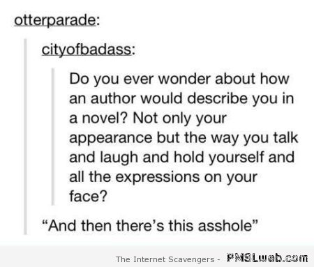How an author would describe you funny at PMSLweb.com