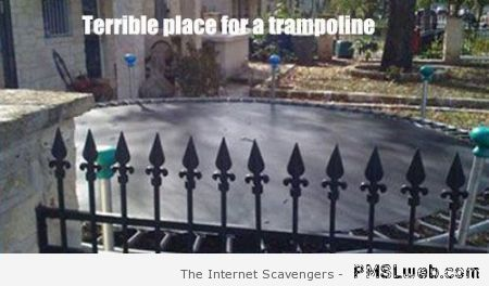 Terrible place for a trampoline humor at PMSLweb.com