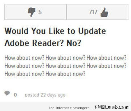 Would you like to update adobe – Computer era funnies at PMSLweb.com