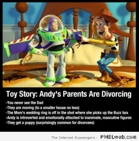 Toy story: Andy's parents are divorcing – Reckless Monday at PMSLweb.com