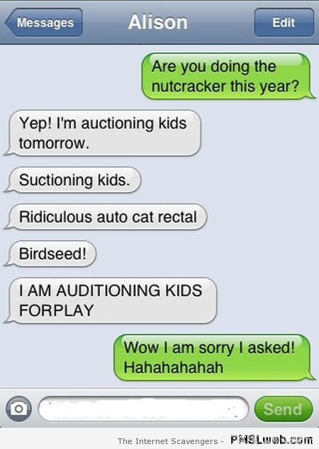 Auctioning kids – Hilarious autocorrect at PMSLweb.com