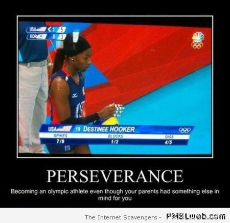 Funny perseverance demotivational picture at PMSLweb.com