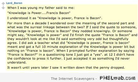 France is bacon humor at PMSLweb.com