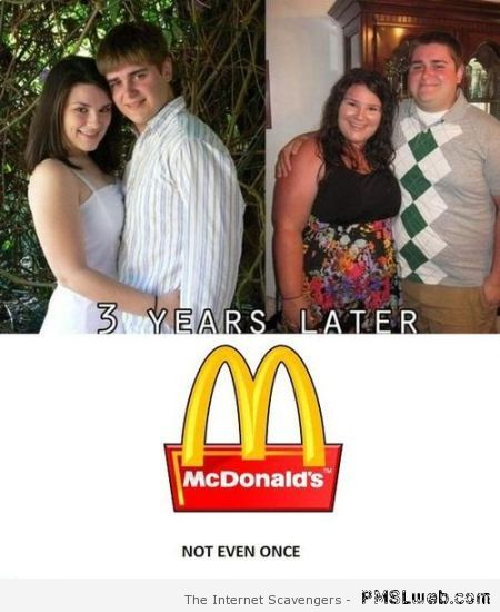 McDonalds not even once humor at PMSLweb.com