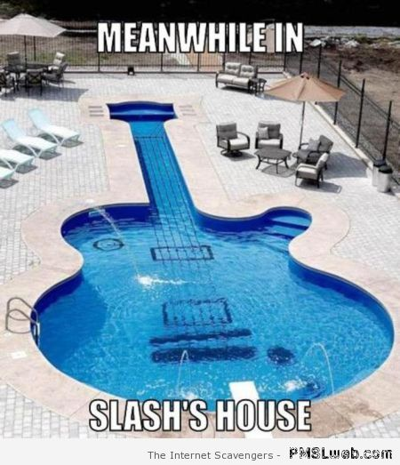 Meanwhile in Slash's house meme at PMSLweb.com