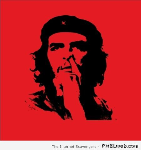 Funny Che Guevara picking his nose funny at PMSLweb.com