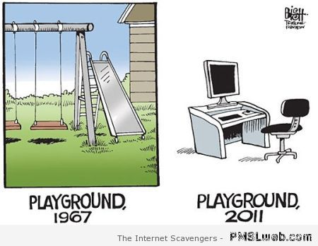 Playgrounds then versus now humor at PMSLweb.com