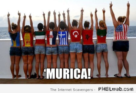 Girls in Murica meme at PMSLweb.com