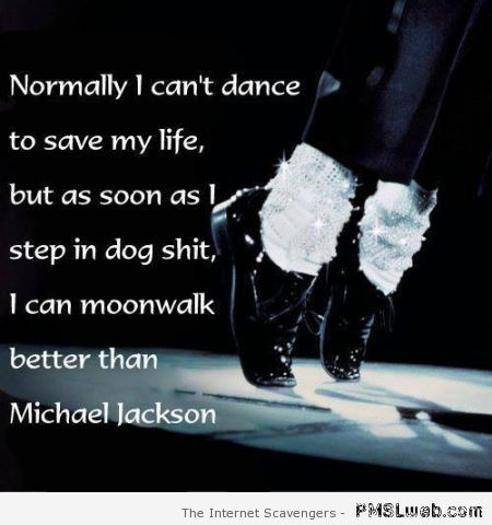 Moonwalk funny joke at PMSLweb.com