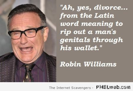Funny divorce by Robin Williams – Rated WTF at PMSLweb.com