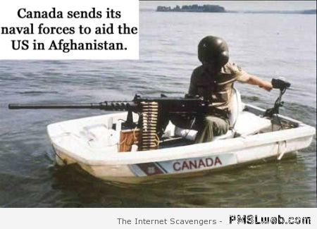 Canada sends naval forces humor – TGIF madness at PMSLweb.com