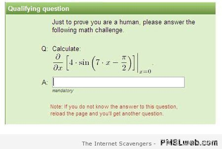 To prove you are human funny at PMSLweb.com
