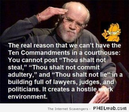 George Carlin ten commandments at PMSLweb.com