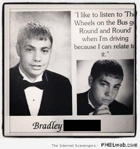 Funny yearbook quote at PMSLweb.com