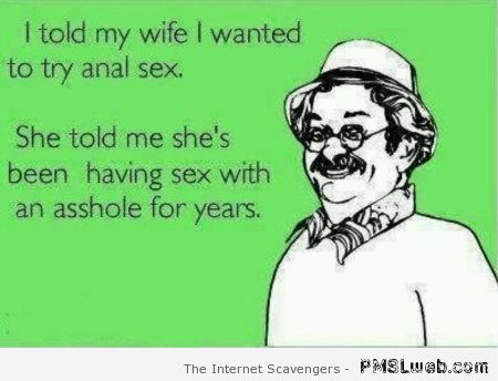 Funny anal sex ecard at PMSLweb.com