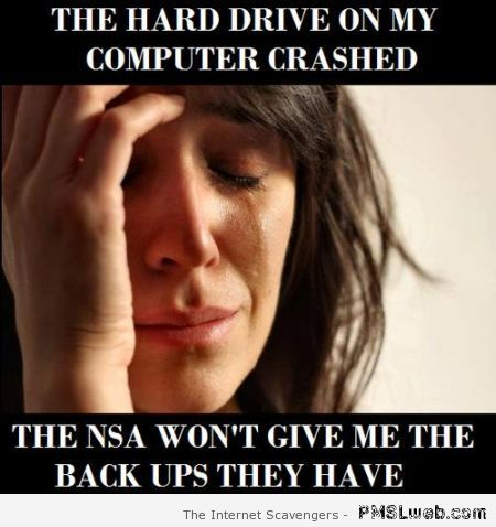 NSA won't give me the backups they have at PMSLweb.com