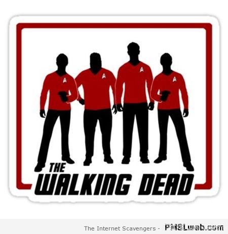 Walking dead red shirts – Friday madness at PMSLweb.com
