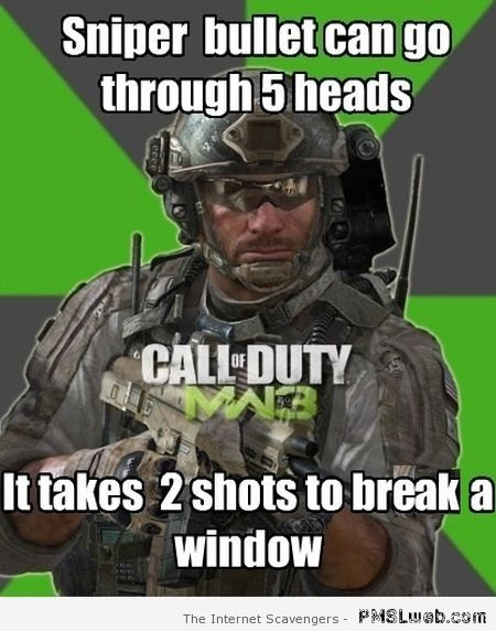 Funny call of duty logic – Video game logic at PMSLweb.com