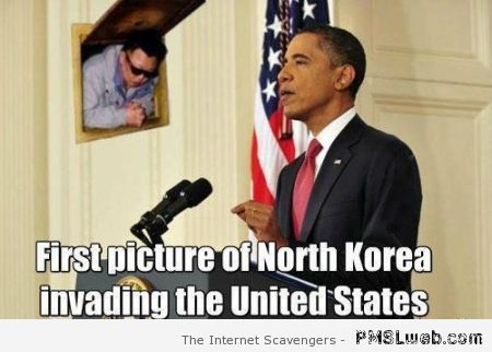 North Korea invading the US meme at PMSLweb.com