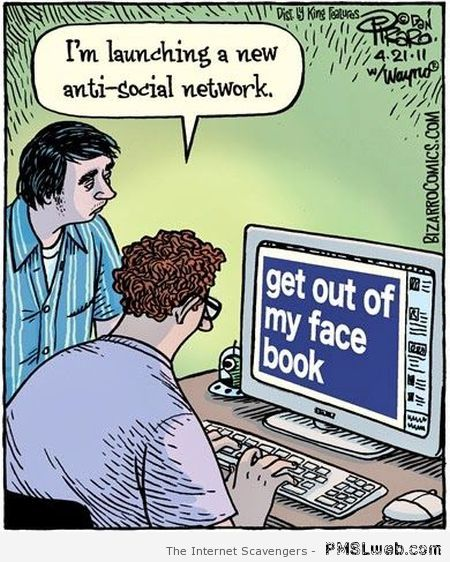 New anti social network cartoon at PMSLweb.com